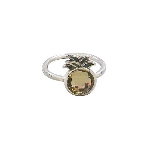 PINEAPPLE SILVER RING WITH CITRINE