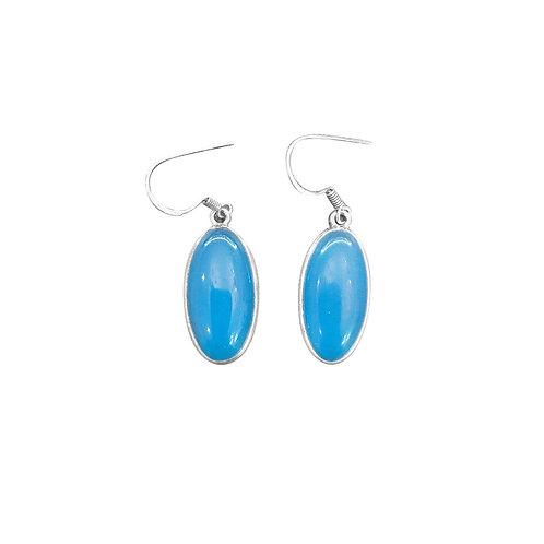 BLUE CHALCEDONY EARRINGS IN STERLING SILVER