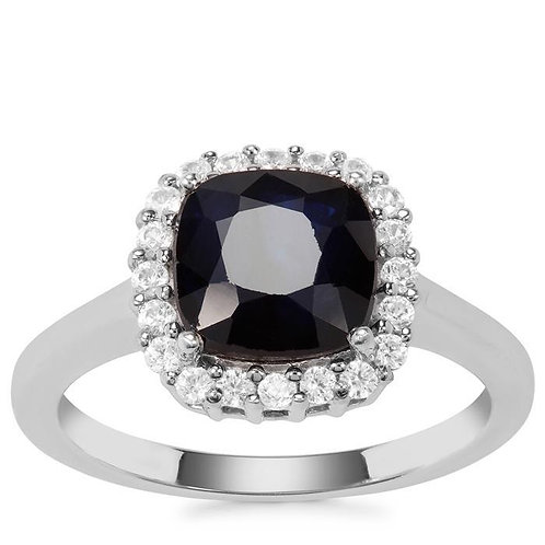 2.50CTS SAPPHIRE STERLING SILVER RING