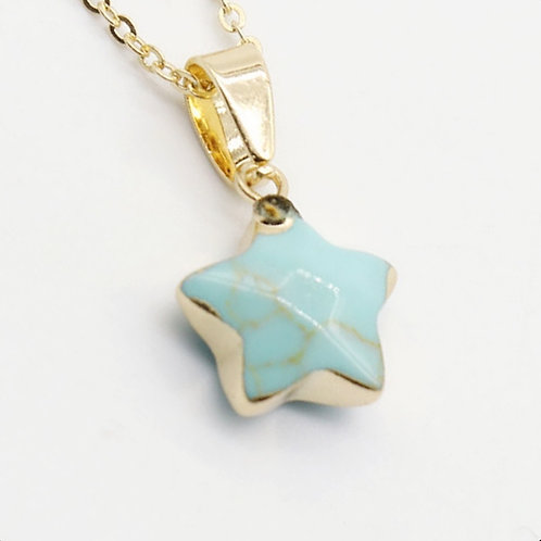STAR GEMSTONE GOLD PLATED NECKLACE