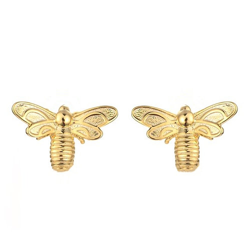 BEE STUDS IN 18ct GOLD PLATED STERLING SILVER