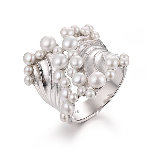 PEARL SEA FOAM STERLING SILVER RING