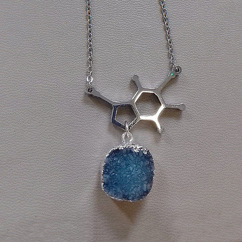 STUNNING MOLECLUE DESIGN NECKLACE WITH DRUZY PENDANT