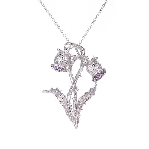 THISTLE NECKLACE IN STERLING SILVER