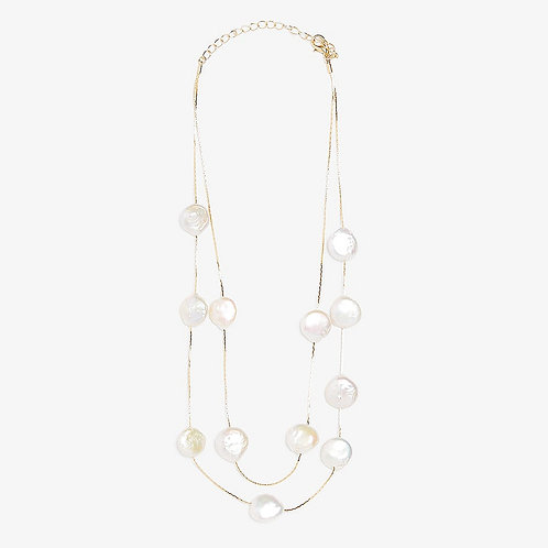 MULTI-LAYER CIRCULAR PEARL NECKLACE