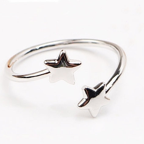 STAR STERLING SILVER OPEN RING