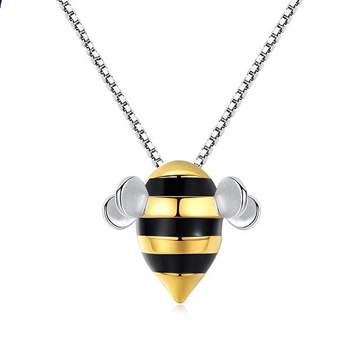 CUTE BEE STERLING SILVER NECKLACE