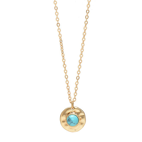 DISC GOLD NECKLACE