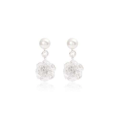 SILVER CHERRY BLOSSOM WITH FRESH WATER PEARL EARRINGS