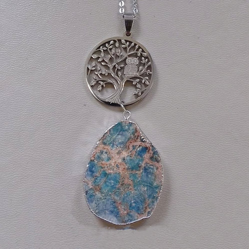 TREE OF LIFE NECKLACE WITH BLUE JASPER