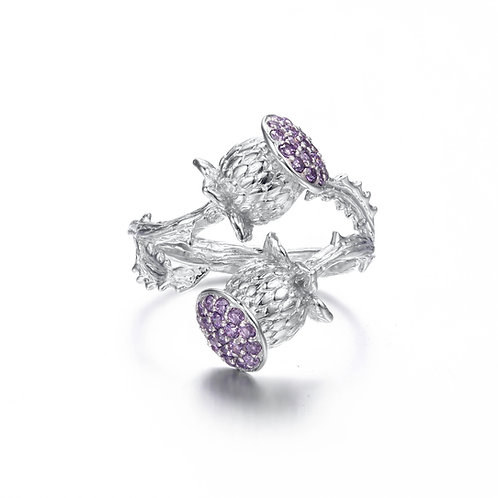 THISTLE RING IN STERLING SILVER