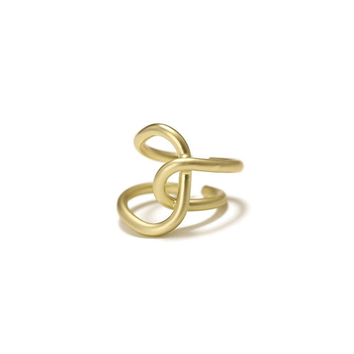14CT GOLD PLATED OPEN RING