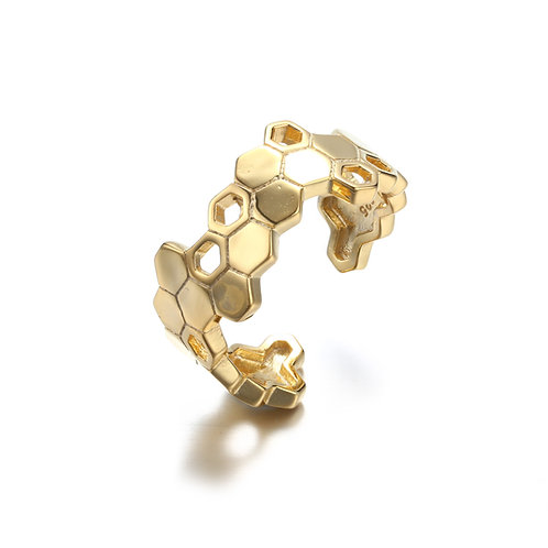 HONEYCOMB RING IN 18ct GOLD VERMEIL