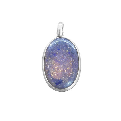 CHUNKY BLUE LAPIS LAZULI PENDANT IN STERLING SILVER