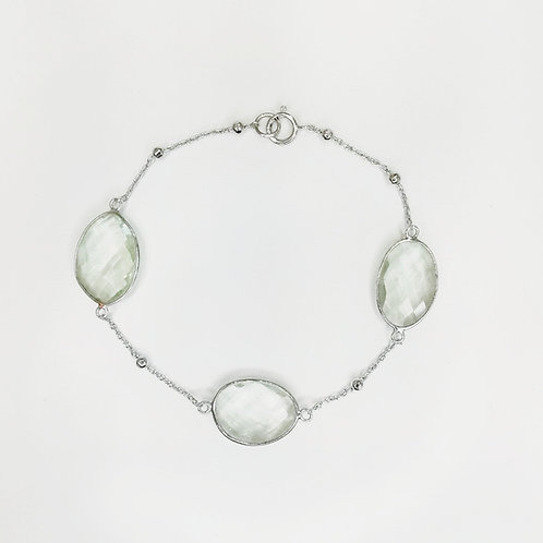 MINT QUARTZ STERLING SILVER BRACELET