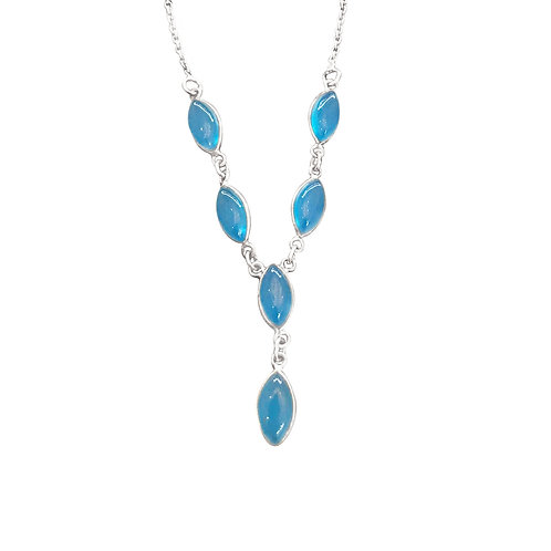 CHALCEDONY STERLING SILVER NECKLACE