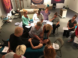 Ann Murley Teaching Students At Omaha Massage Continuing Education Workshops