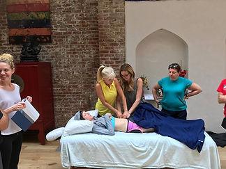 Ann Murley Teaching Massage Workshop