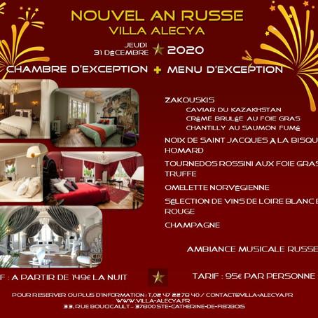 "La Villa Alecya organise son 1er ""Réveillon Russe"" !  Celebrate New Year's Eve the Russian way!"