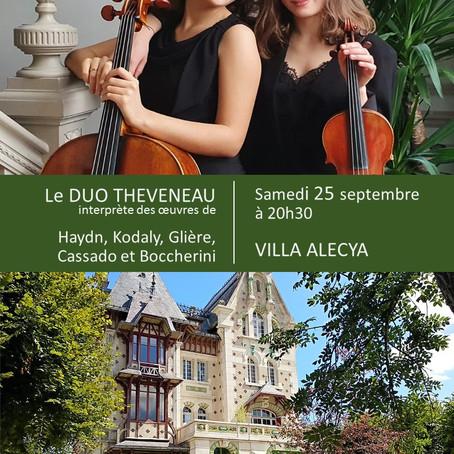 Concert exceptionnel à la Villa le samedi 25 septembre - Exceptional concert at Villa Alecya on 25/9