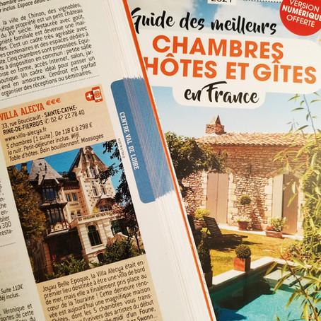 """La Villa Alecya dans le guide Petit Futé 2021 des """"Meilleures chambres d'hôtes"""""""