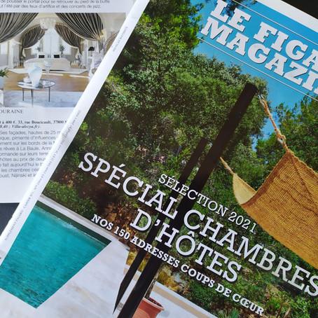 La Villa Alecya coup de cœur 2021 du Figaro Magazine !  Villa Alecya selected by Le Figaro!
