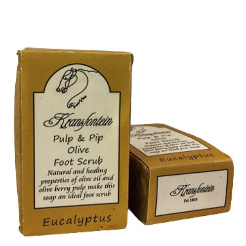 Kransfontein Handmade Pulp & Pip Olive Foot Scrub (Eucalyptus)