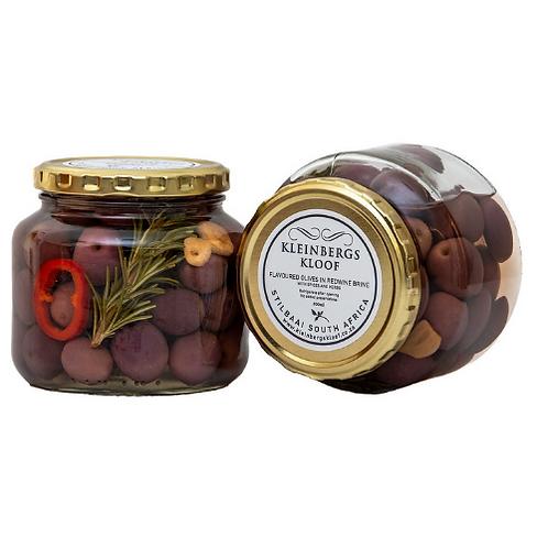 Kleinbergskloof Olives in Redwine Brine 500ml