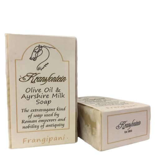 Kransfontein Handmade Olive & Ayrshire Milk Soap (Frangipani)