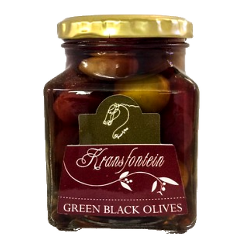 Kransfontein Green & Black Olives in Brine (260ml)