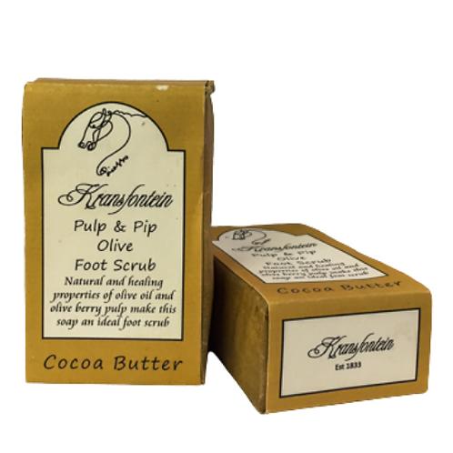 Kransfontein Handmade Pulp & Pip Olive Foot Scrub (Cocoa Butter)
