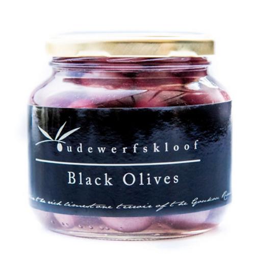 Oudewerfskloof Garlic Stuffed Black Olives (400ml)