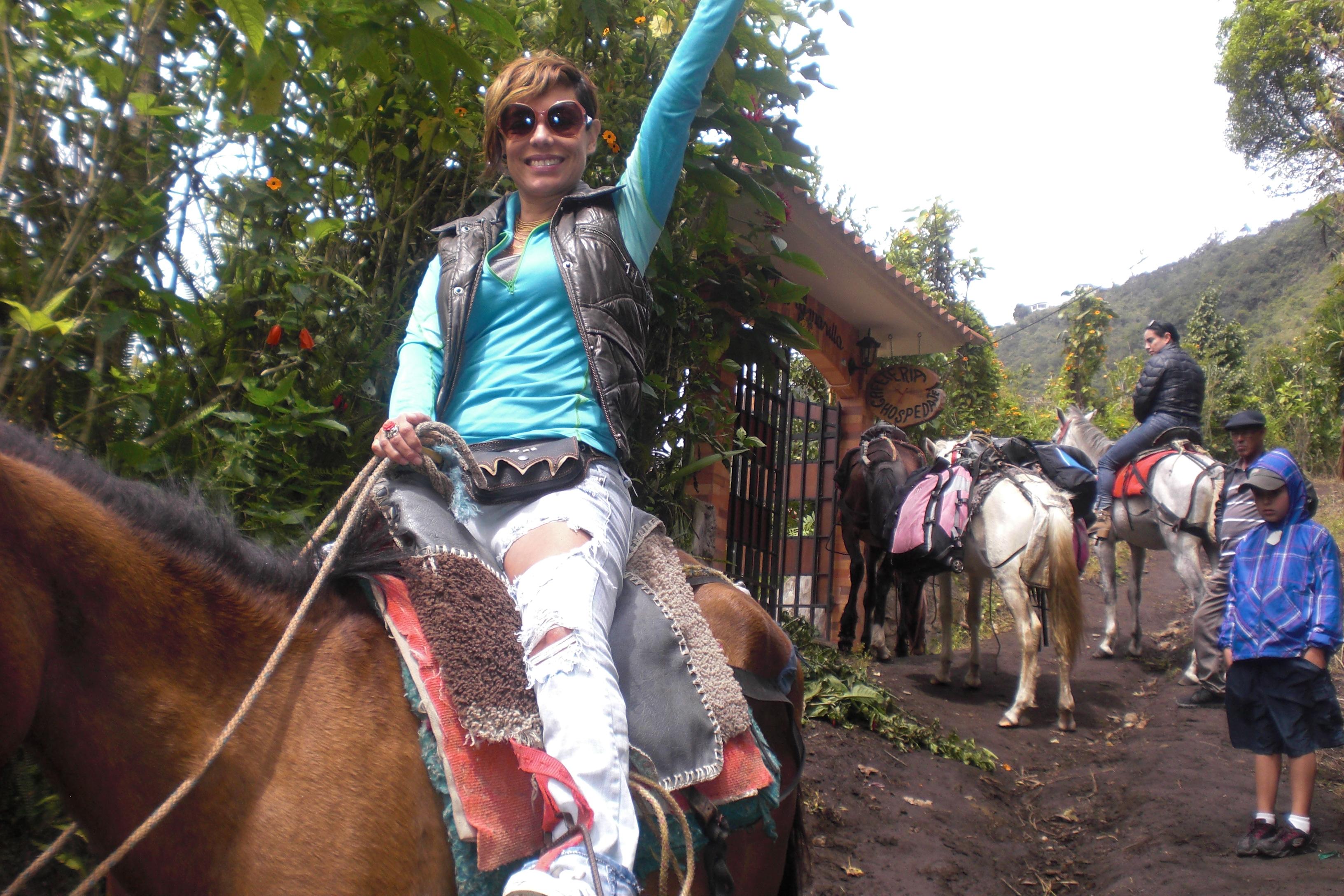 Acceso en caballo o a pie