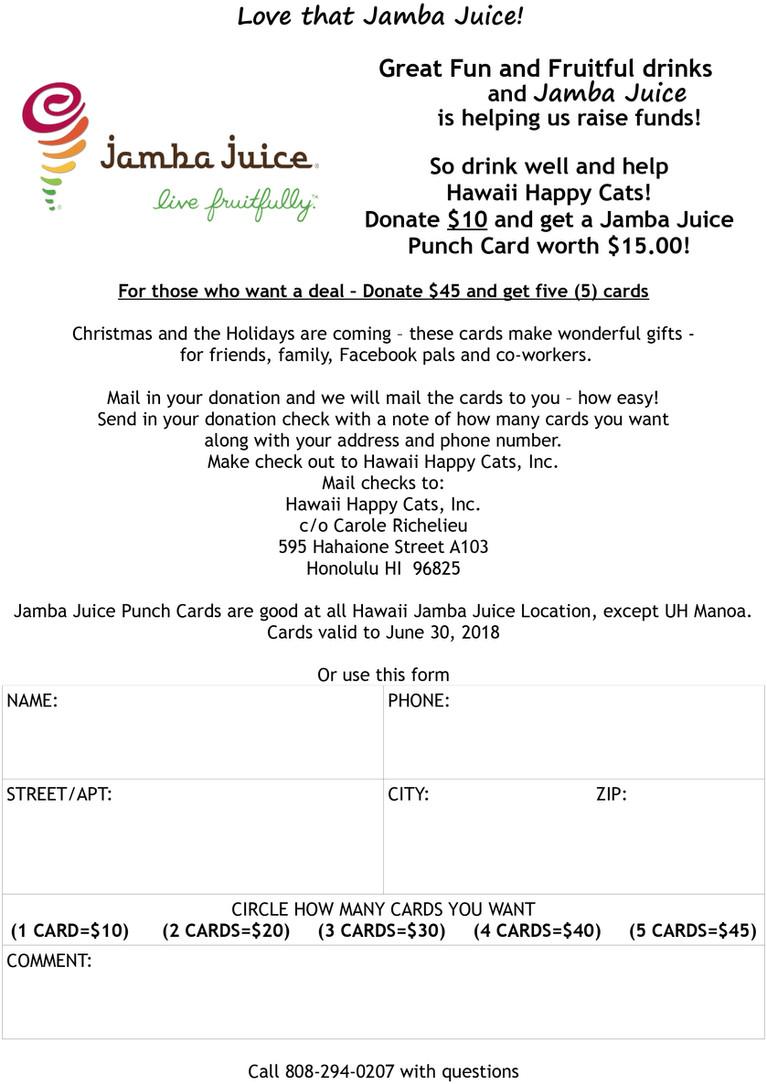 Jamba Juice & Hawaii Happy Cats