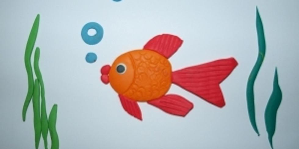 Онлайн трансляция  из пластилина «Рыбка».