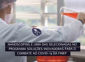 NanoScoping é selecionada no edital Soluções Inovadoras para o Combate ao Covid-19 da FINEP