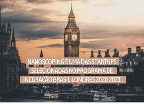 NanoScoping é selecionada no Programa de Incubação Brasil-Londres 2020-2021