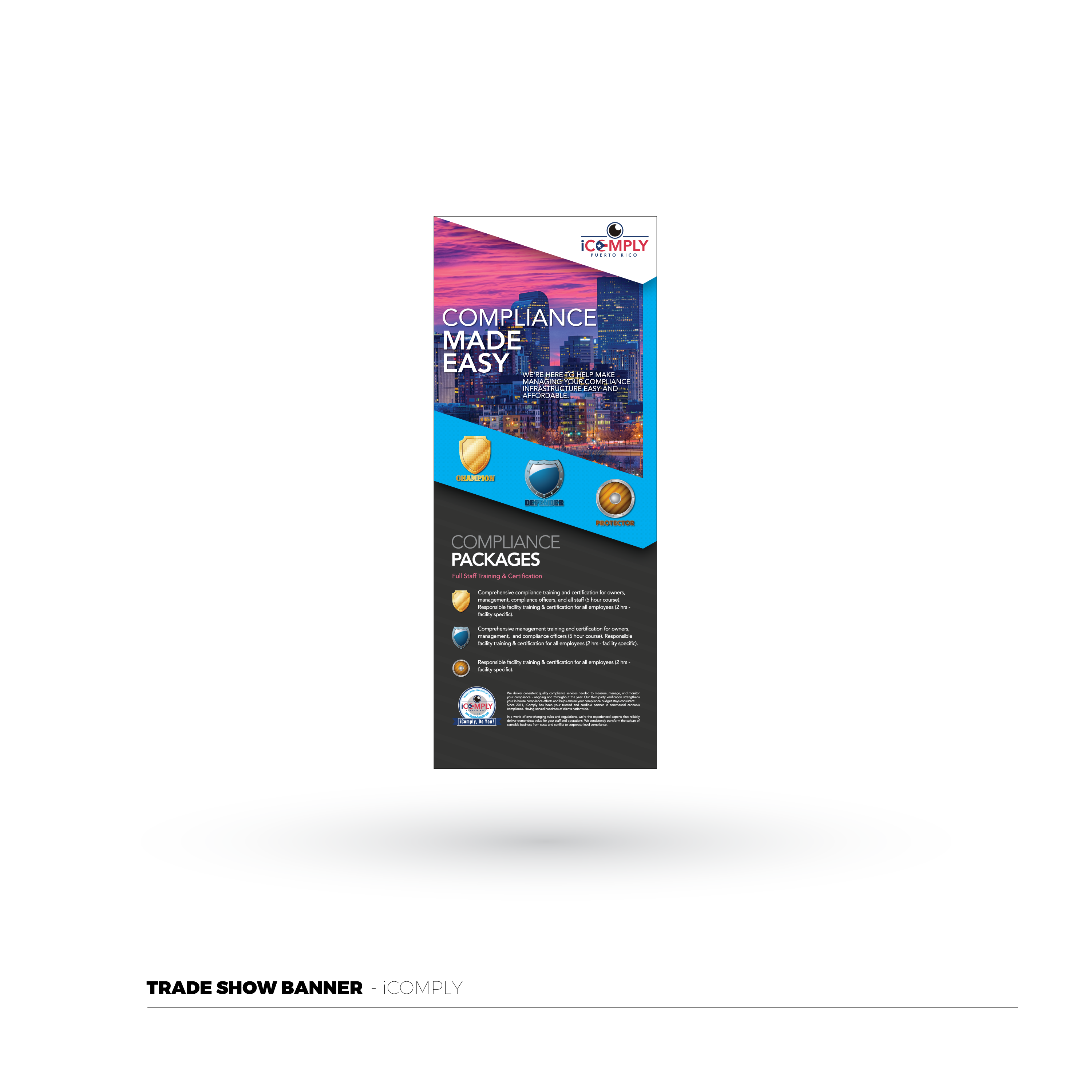 iComply Trade Show Banner