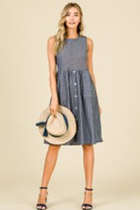 INDIGO STRIPED DRESS