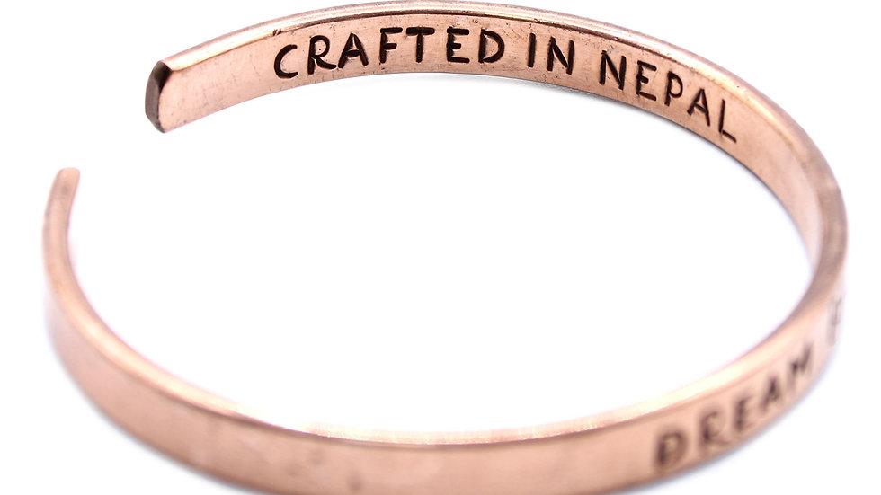 Copper inspiration bracelet.