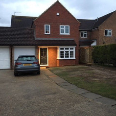 car, garage and home