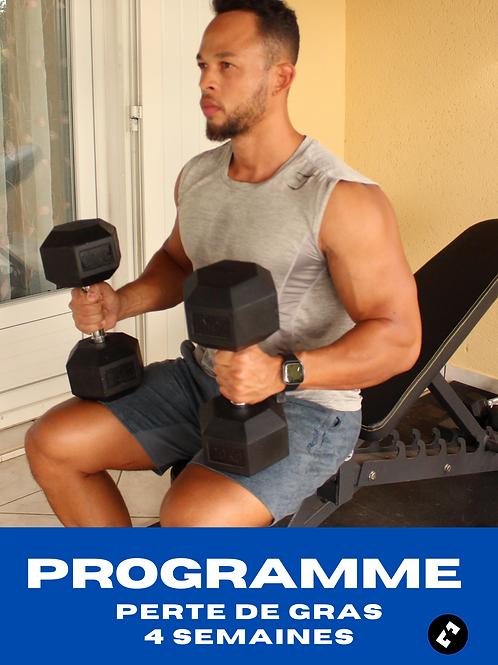 Programme perte de gras - Salle musculation - 4 semaines