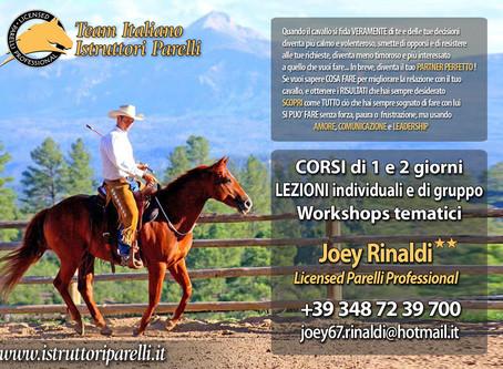 WorkShop di 3 ore con Joey Rinaldi - *2 Stars* Parelli Professional