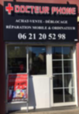 Docteur Phone 13, achat,vente,déblocage,réparation mobiles et ordinateurs situé au 55 avenue Paul sirvent, 13380 Plan de Cuques