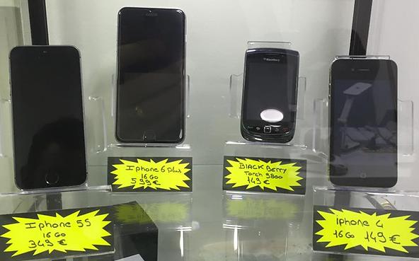 Vente Iphone 6 plus 16GO, vente Iphone 5S 16GO, vente Black Berry Torch 9800, vente Iphone 4 16GO chez Docteur phone 13 sur Plan de Cuques.