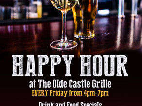Happy Hour at The Olde Castle Grille at Blue Hill Golf Course