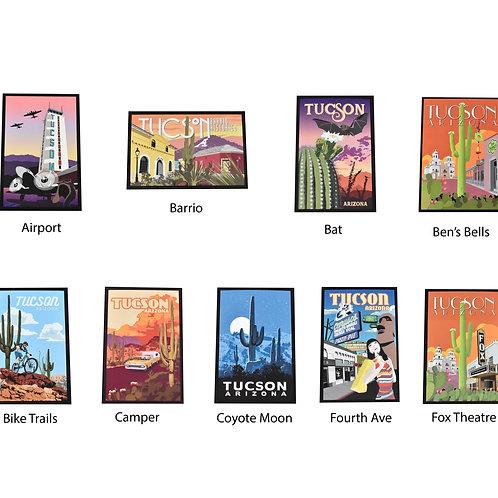 Large Postcards | 5 Piece Set | Tucson