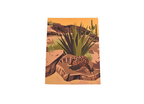 Print | Southwest Gila Monster | Tucson Option