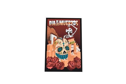 VEN   Postcard   Sugar Skull   Dia de los Muertos