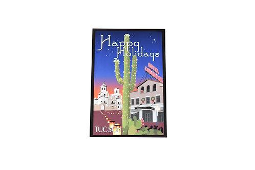VEN - Holiday Postcard   Christmas   Saguaro   Tucson